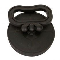Tappo gomma con maniglia senza piastra INOX mm. 52