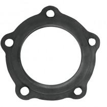 Guarnizione FORATA (5 fori) in gomma nera per flangia resistenza scaldabagni. Applicazione su modelli ARISTON