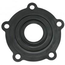 Guarnizione FORATA (5 fori) in gomma nera, con interno piccolo, per flangia resistenza scaldabagni. Applicazione su modelli ARISTON