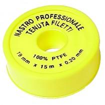 Nastro TEFLON x GAS mt.15 professionale 3/4 mm.19 x 0,20