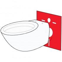 Guarnizione ISOLANTE montaggio WC e BIDET sospeso/pavimento