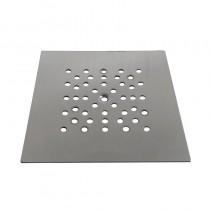 Piattello GRIGLIATO QUADRO INOX mm.150x150 c/vite IDROSKIN