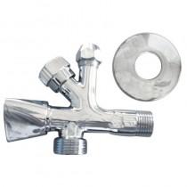 Rubinetto Combin.sottolavabo-lavatrice 1/2 M - 3/4 M - D10
