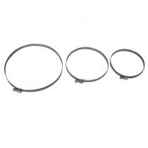 Fascetta stringitubo mm. 80-100 fascia 9 acciaio AISI 430/DI