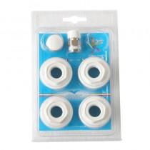 Confezione radiatore ALLUMINIO INCAVO UNIVERSALE 3/8-EPDM valvolino teflon BLISTER