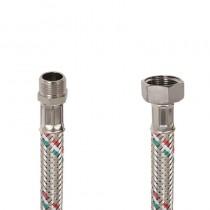 Flessibile DN8 IDRONOX cm.15 Tricolore 3/8 M. - 1/2F. c/Guarnizione