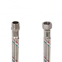 Flessibile DN8 IDRONOX cm.15 Tricolore 3/8 M.-3/8F. c/Guarnizione sede chiave