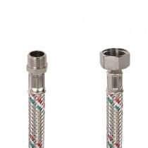 Flessibile DN8 IDRONOX cm.15 Tricolore 3/8 M.-1/2F. c/Guarnizione sede chiave