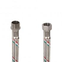 Flessibile DN8 IDRONOX cm.15 Tricolore 1/2 M. - 3/8F. c/Guarnizione
