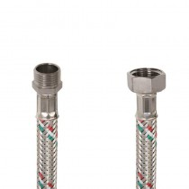 Flessibile DN8 IDRONOX cm.15 Tricolore 1/2 M. - 1/2F. c/Guarnizione