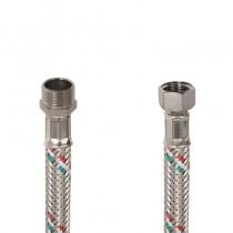 Flessibile DN8 IDRONOX cm.15 Tricolore 1/2M.-3/8F. c/guarnizione sede chiave