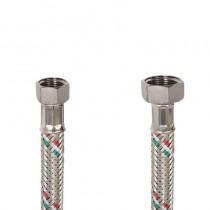Flessibile DN8 IDRONOX cm.15 Tricolore 3/8F. c/Guarnizione -1/2F. c/Guarnizione