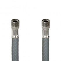 Flessibile DN8 NYLON GRIGIO cm.150 15x1 M. Girevole - 15x1 F.