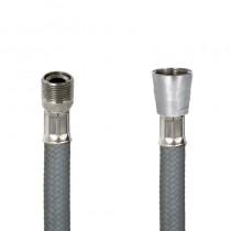 Flessibile DN8 NYLON GRIGIO cm.150 15x1 M. Girevole - Cono 1/2