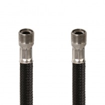 Flessibile DN8 NYLON NERO cm.150 15x1 M. Girevole - 15x1 F.