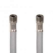 Flessibile DN8 NYLON BIANCO cm.150 15x1 M. Girevole - 15x1 F.