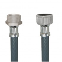 Tubo PVC CARICO LAVATRICE cm.100 3/4 M. - 3/4 F.