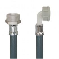 Tubo PVC CARICO LAVATRICE cm.100 3/4 M. -3/4Curva F.