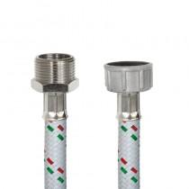 Tubo DN10 Nylon Bianco LAVATRICE cm.100 Tricolore 3/4 M.-3/4 F.