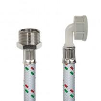 Tubo DN10 Nylon Bianco LAVATRICE cm.100 Tricolore3/4F-3/4 F
