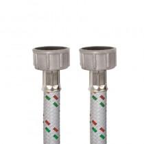 Tubo DN10 Nylon Bianco LAVATRICE cm.100 Tricolore 3/4 F.-3/4 F.