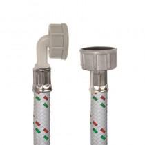 Tubo DN10 Nylon Bianco LAVATRICE cm.100 Tricolore3/4F-3/4Curva F
