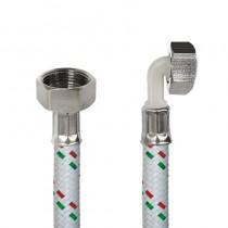Tubo DN10 Nylon Bianco LAV.cm.100 Tricolore3/4 F.-3/4Curva D.OTT