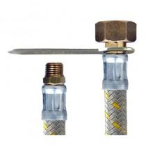 Flessibile NYLON GRIGIO CENTRALINA GAS cm.60 1/4M.-1/2F. SINISTRO