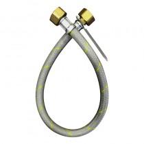Flessibile NYLON GRIGIO CENTRALINA GAS cm.70 1/2F. SINISTRO -1/2F. SINISTRO