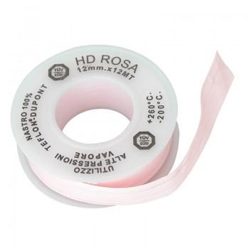 Nastro TEFLON HD ROSA x ALTE PRESSIONI VAPORE 1/2x12MTx0.1